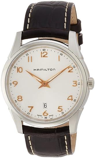 Hamilton Reloj Analogico para Hombre de Cuarzo con Correa en Cuero H38511513: Hamilton: Amazon.es: Relojes