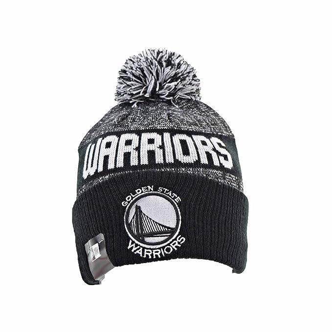 f315b372ada New Era Golden State Warriors NE16 Men s Knit Pom Beanie Hat Cap Black White  80504687