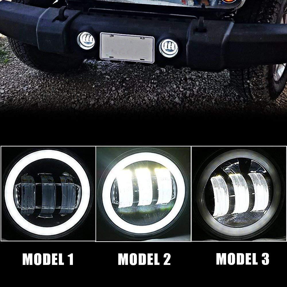 4XBEAM DOT Approved 7 LED Projector Headlights Amber Turn Signal Hi//Lo Beam DRL 4 Front Bumper Fog Lights w//Amber Turn Signal For 2007-2017 Jeep Wrangler JK Rubicon JKU Sahara Sport Unlimited