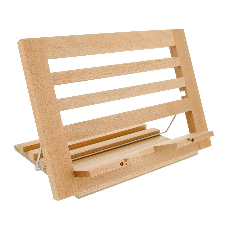 Countertop Folding Alder & Wood Cookbook Holder