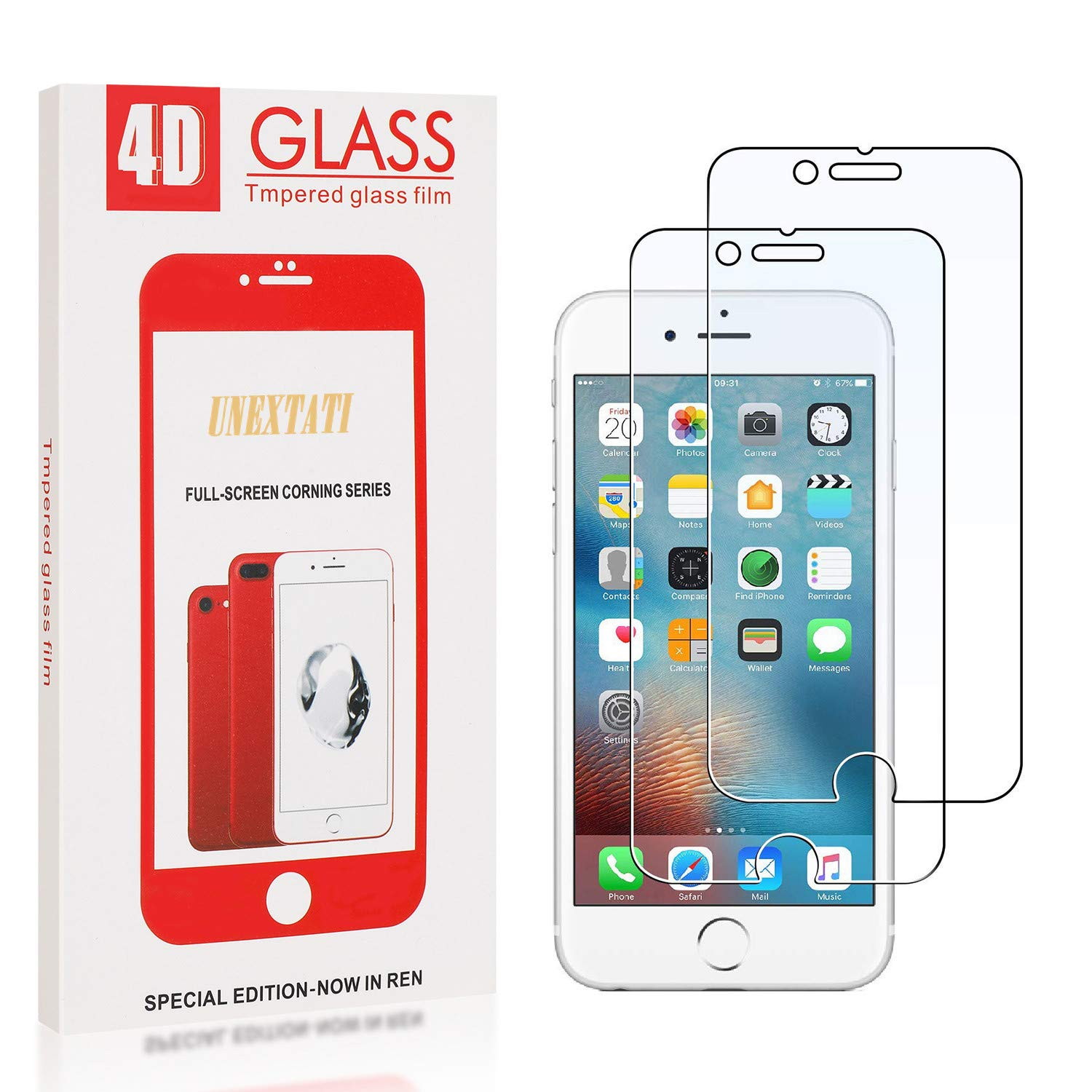 UNEXTATI 2 Pack Screen Protector for iPhone 11 Pro Tempered Glass Film 9h HD 9H Tempered Glass Screen Protector Anti Shatter Film for iPhone 11 Pro