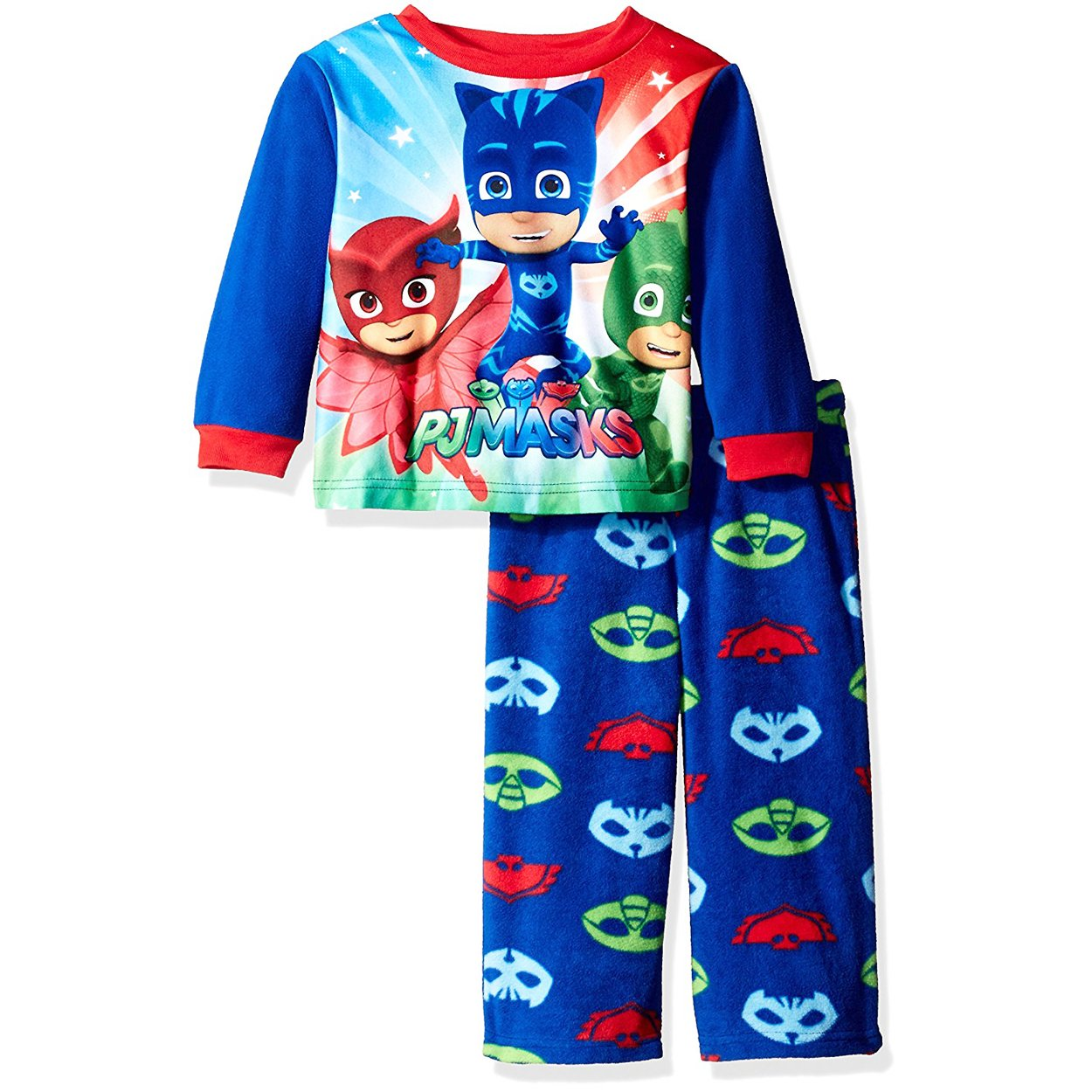 c39204cb1dd4 Amazon.com  AME Boys Pj Masks 2-Piece Fleece Pajama Set (Catboy ...