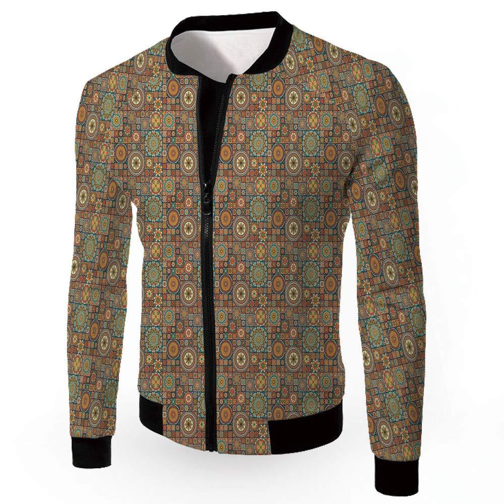 Multi03 XLarge iPrint Men's Jackets,Mgoldccan,Men's Lightweight Zipup Windproof Windbreaker Jacket,Nor