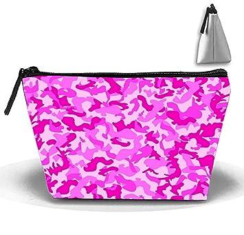 Amazon.com   Trapezoidal Cosmetic Pouch Camo Pink Clutch Makeup Bag   Beauty 5597e3a730210