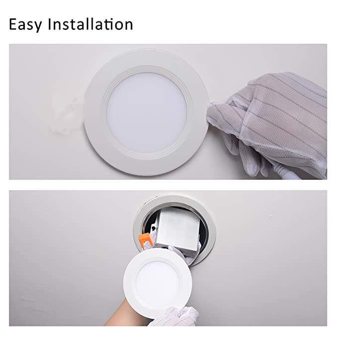 Amazon.com: 4 inch Slim downlight dimmable 9 W (=65 W) LED ...