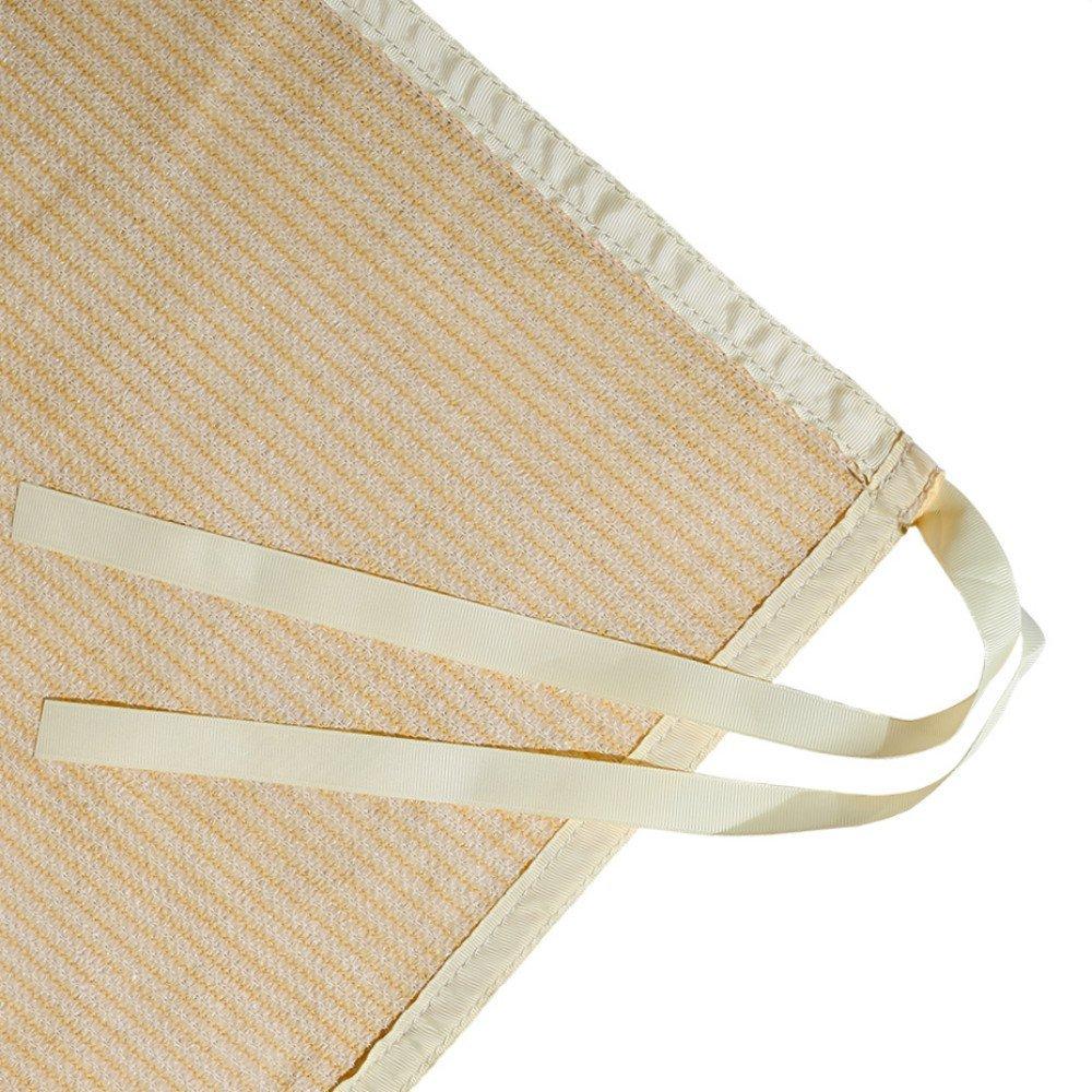 Shatex Shade Panel Block 90% of UV Rays with Ready-tie up Ribbon for Pergola Gazebo Porch 12' x 18', Wheat