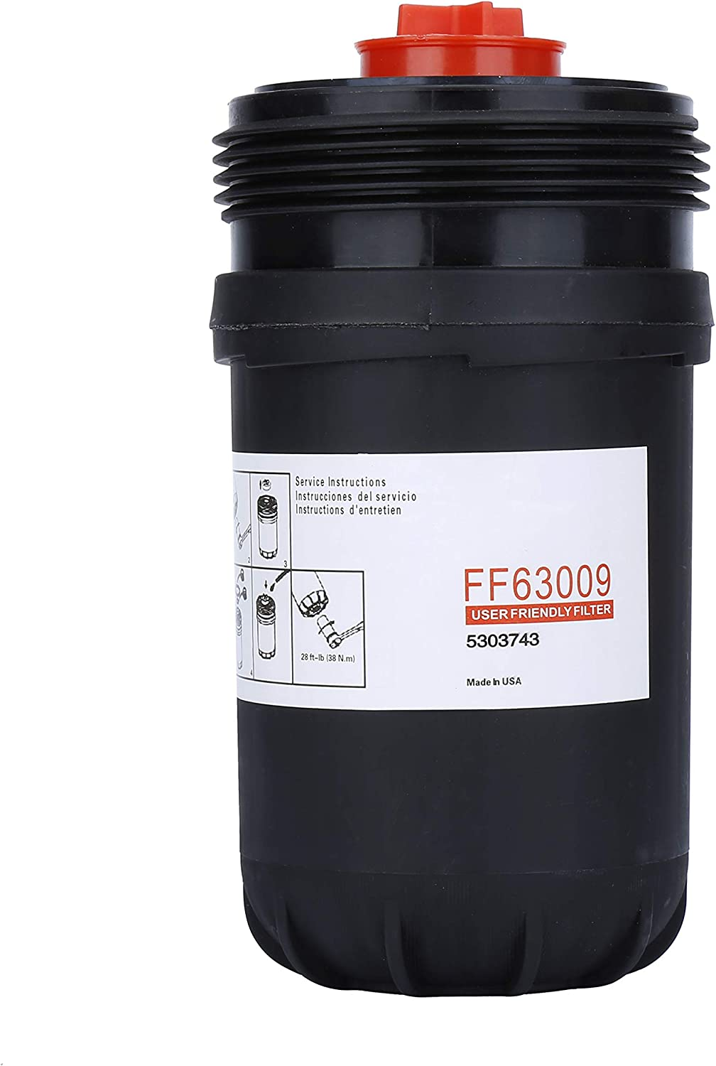 FF63008,FH22168 and L FF63009 Fuel Filter for Cummins,Best Protection and Longer Fuel System Life,Fit for for Cummins B Series Diesel Engines Filtration,Replaces# 5303743