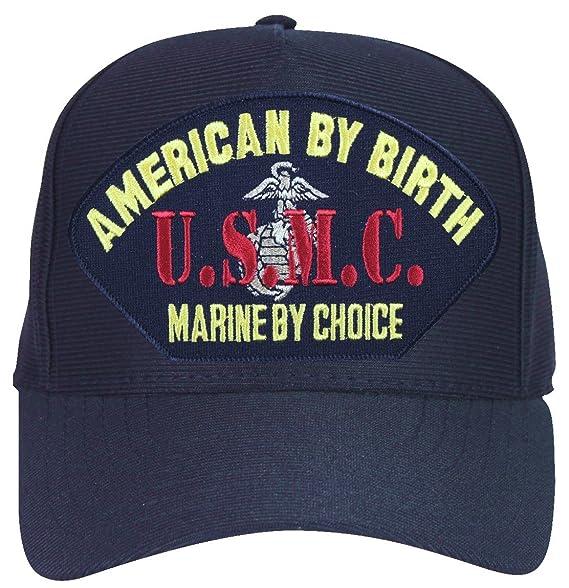 American by Birth, Marine by Choice USMC with EGA Marine Corps Ball Cap