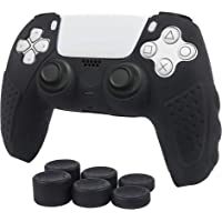 PS5 Controller Grip,Anti Slip Silicone Grip Skin Case Protector for Dual Sence Controller of Sony Play Station 5,with 6…