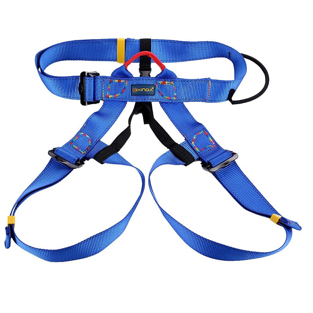 Escalada En Roca Al Aire Libre Del Alpinismo Rapel Arnés Del Cinturón De Seguridad - Azul Genérico