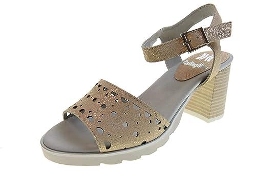 Oro 24801 Tacón Mujer Zapatos Sandalias De Beige Callaghan O8vNmy0wPn