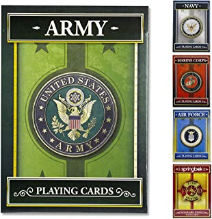 product image for Springbok - United States Army Playing Cards - Officially Licensed 52 Playing Card Deck - Made in USA