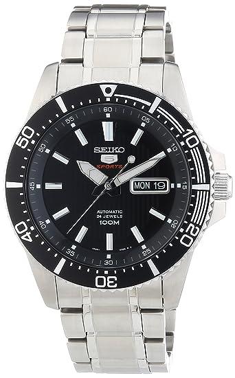 Seiko Reloj analogico para Hombre de automático con Correa en Acero Inoxidable SRP553K1: Amazon.es: Relojes