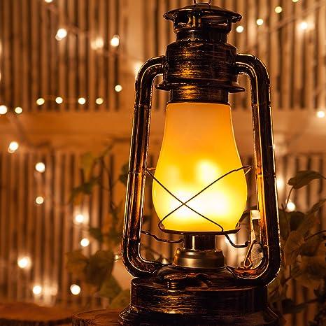 antiqued copper realistic electric 155 flickering led hanging metal lantern christmas lanterns vintage