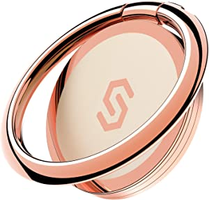 Syncwire Cell Phone Ring Holder Stand, 360 Degree Rotation Universal Finger Ring Kickstand with Polished Metal Phone Grip for Magnetic Car Mount Compatible with iPhone, Samsung, LG, Sony - Rosegold