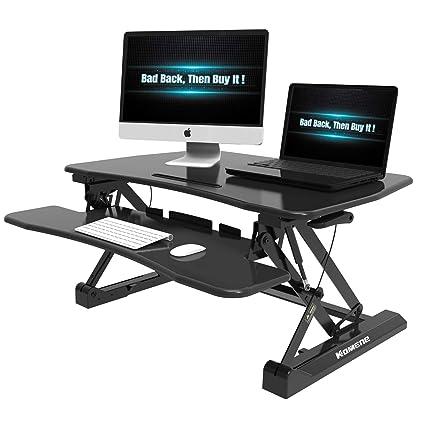 Amazon Com Height Adjustable Standing Desk Komene Standing Desk