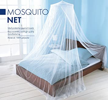 Elegant Mosquito Net Bed Canopy Set   White