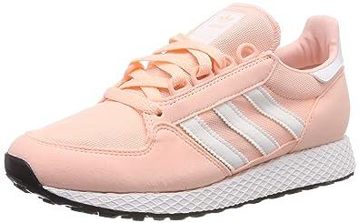 half off 3efc5 c5f45 Amazon.com   adidas Originals Forest Grove C Clear Orange Synthetic Suede  Junior Trainers   Fashion Sneakers