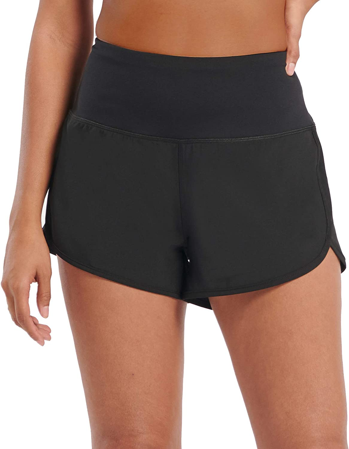 Workout Shorts for Women Active Wear Yoga Running Athletic Shorts Built in Underwear: Clothing