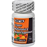 Deva Vegan Multivitamin and Mineral Supplement - 90 Tiny Tablets - Gluten Free - Dairy Free - Wheat Free - Easy to Swallow