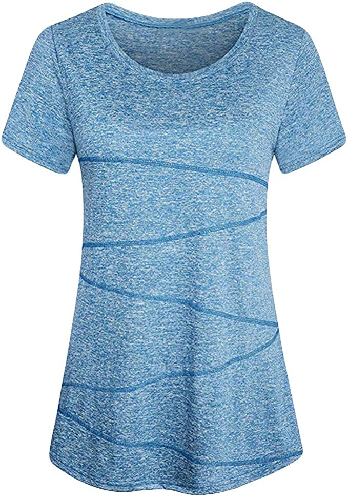 Amazon.com: Pocciol camiseta de manga corta para yoga, para ...