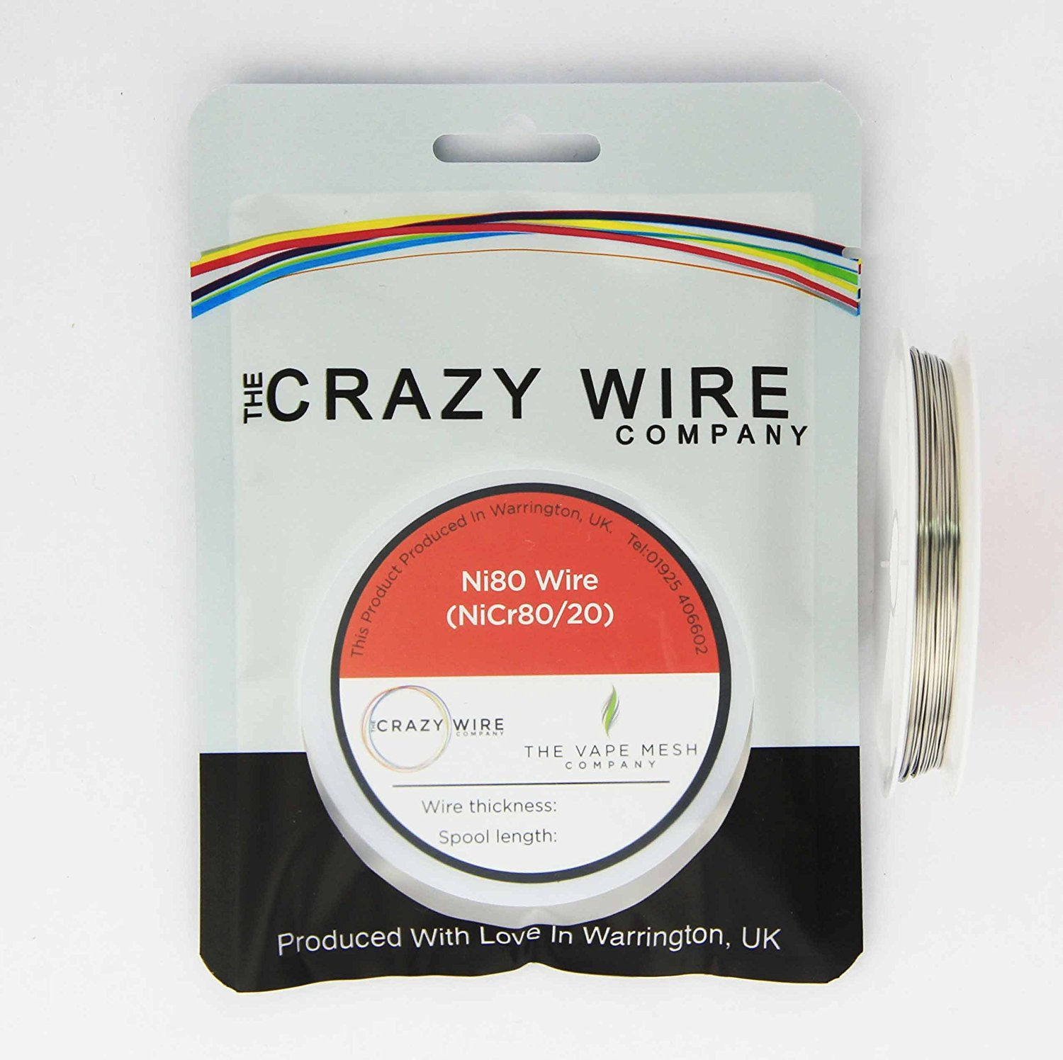 FAT NI80 WIRE - 24AWG (0.5MM) - NiCr8020 80% Nickel/20% Chrome - 10 ...