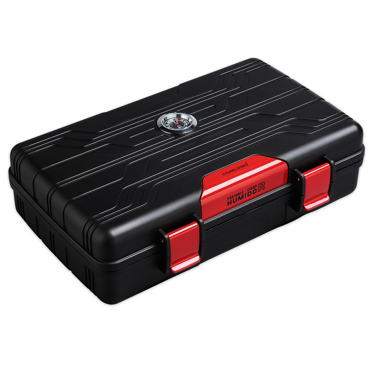 Cigar Travel Case Double Layer Accommodates 10 Cigars Portable Box(Color:Red) …