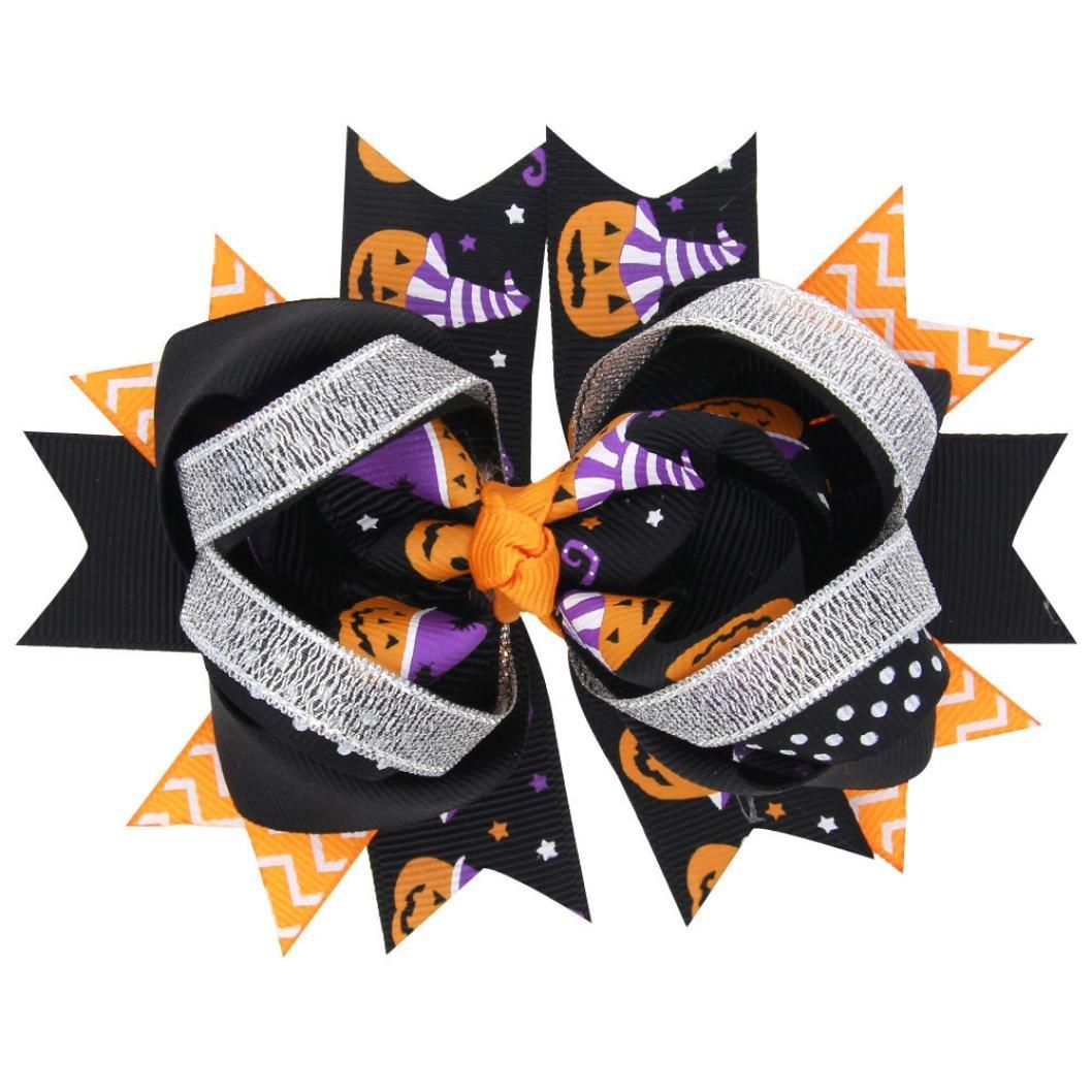 Gotd Baby Girls Halloween Bowknot Hairpin Headdres Gift Set (#1)