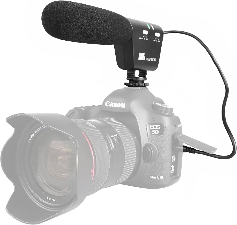 Pixel MC-50 Micrófono de cámara Grabación Micrófono Escopeta Mic ...