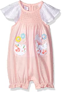 85ecee940 Amazon.com: Mud Pie Baby Girls' Bunny Pocket Romper, Multi, 9 12 ...