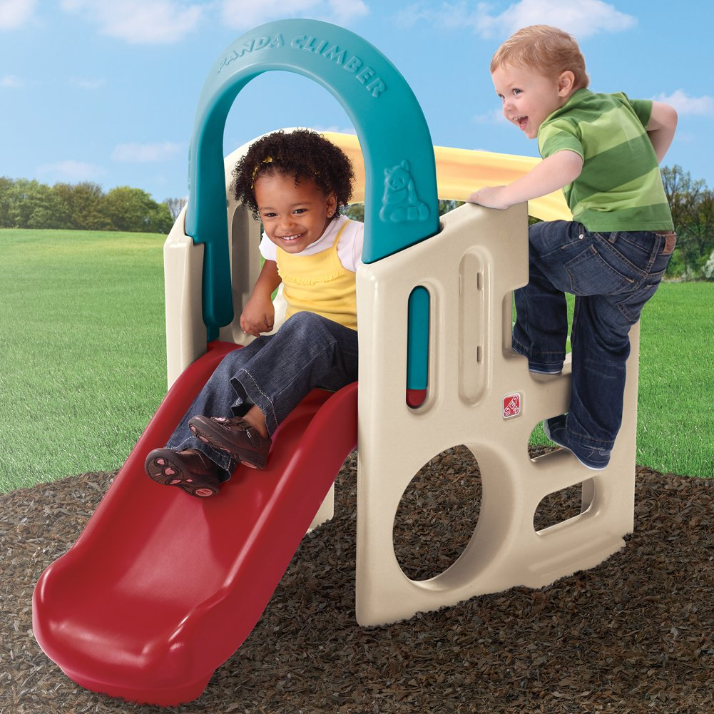 outdoor slide climber step 2 kids toddler indoor play toy backyard fun playset ebay. Black Bedroom Furniture Sets. Home Design Ideas