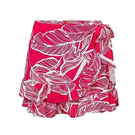 HEHEAB Falda,Impresión De Envoltura De Verano Falda Roja Mujer ...