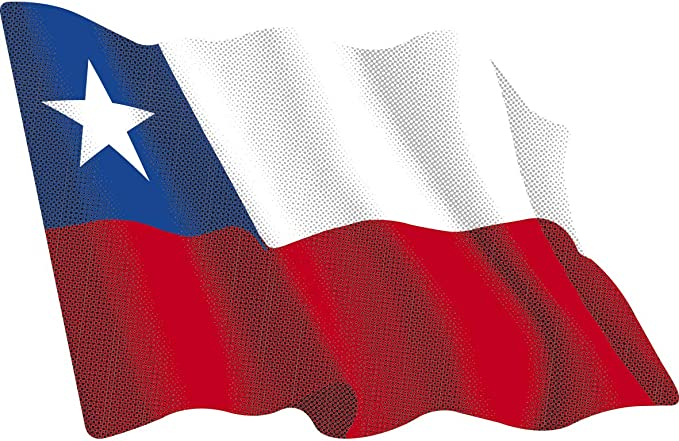 Artimagen Pegatina Bandera Ondeante Chile pequeña 65x50 mm.: Amazon.es: Coche y moto