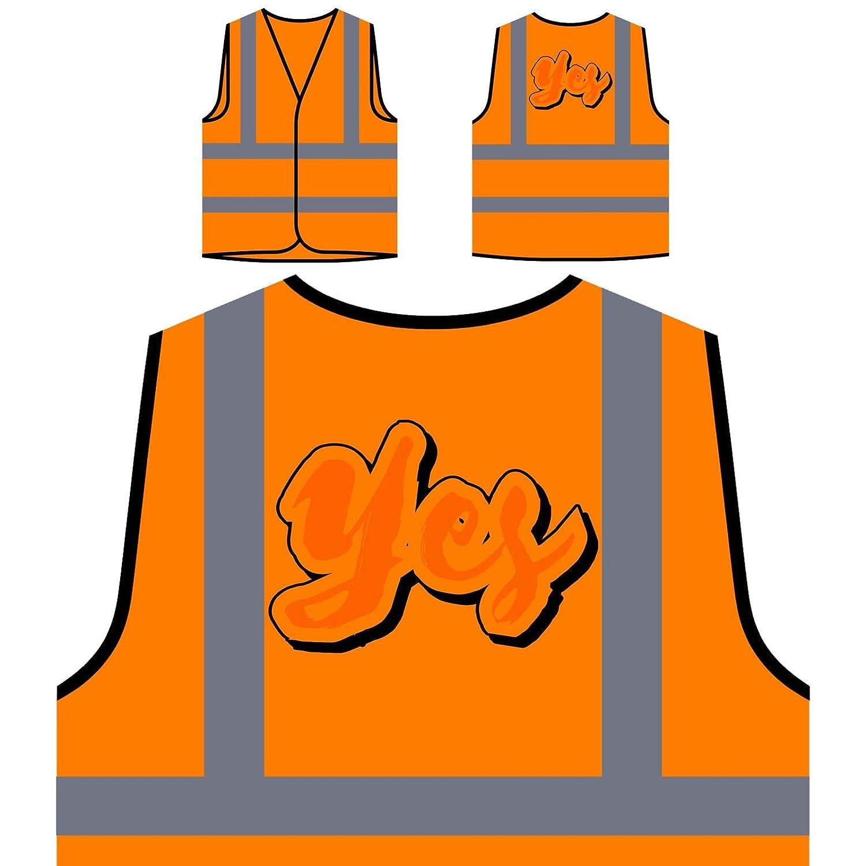 Abbigliamento da lavoro e divise Abbigliamento Sì Arte Novità Divertente Personalizzato Hi Visibilità Giacca Gilet Arancione di sicurezza r752vo