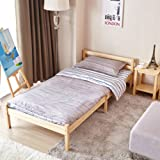 Single Bed Frame Greenforest 3ft Small Wooden Beds of Pine Color for Kids Furniture or Guest Room