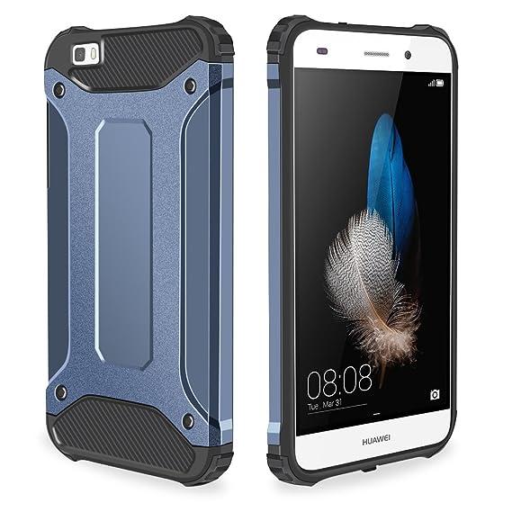 sale retailer f7282 e0a60 Huawei P8 Lite Case, Nova Lite Case, Jiunai Heavy Duty Protective Hard  Cover Shell Armor + Soft TPU Dual Layer Shockproof Case for Huawei P8 Lite  ...