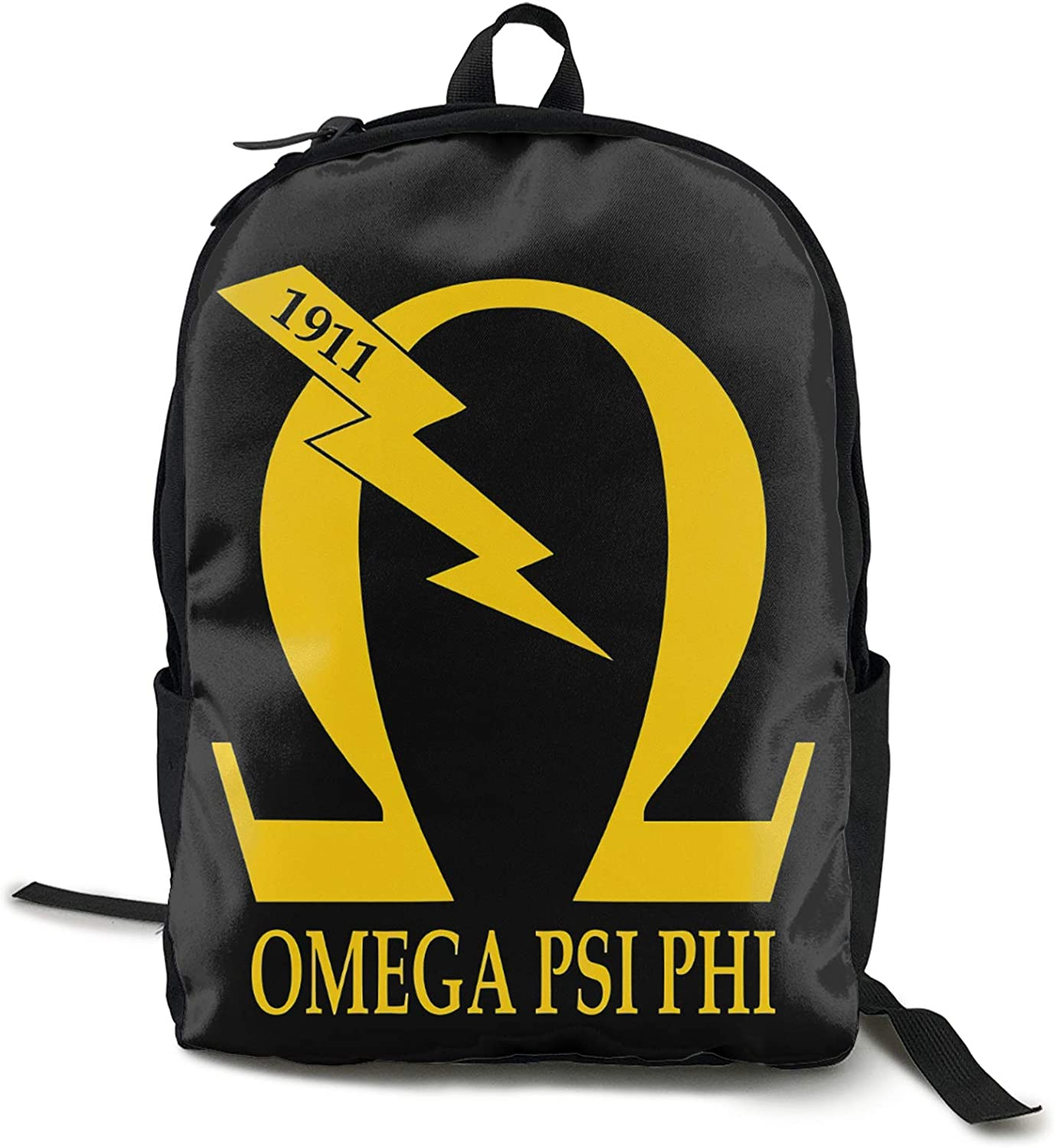 Lanmei Unisex Classic Fashion Omega Psi Phi Casual Backpack Travel Backpack Laptop Backpack