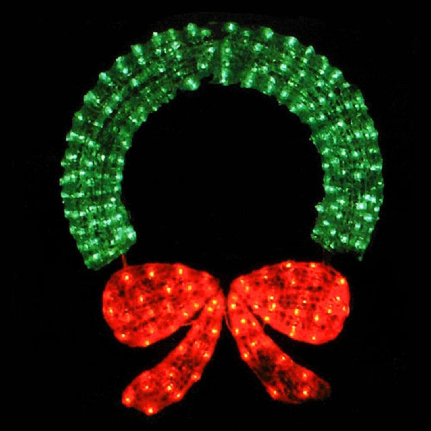 LB International 48'' Lighted Crystal 3-D Outdoor Christmas Wreath Decoration