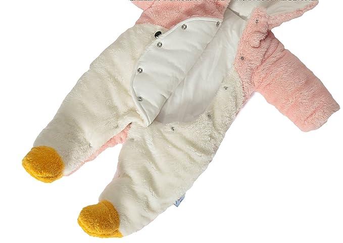 2ddd7de43ccfc GEMVIE Combinaison Bébé Fille Pingouin à Capuchon Vêtement Rose Automne  Hiver Barboteuse Enfant Costume Chaud Mignon Pyjama (Rose)  Amazon.fr   Vêtements et ...