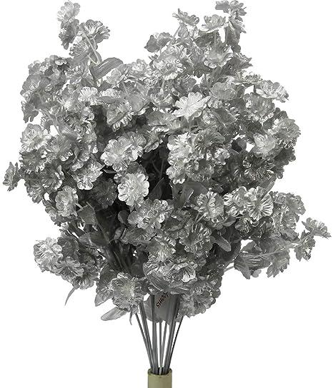 Amazon.com: Sarutaya - Ramo de plata de seda para el aliento ...