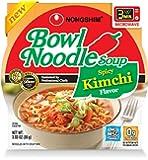 NongShim Bowl Noodle Soup, Kimchi, 3.03 Ounce (Pack of 12)