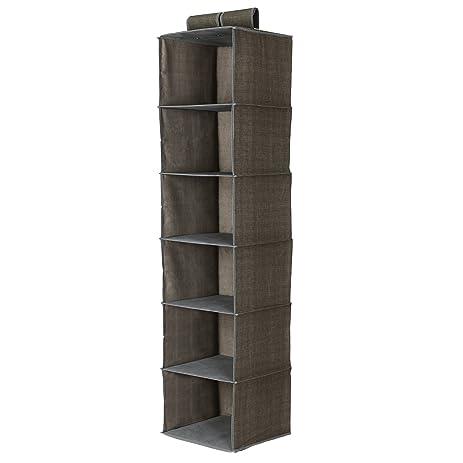Songmics URCH06K 6 Shelf Closet Organizer Collection Hang