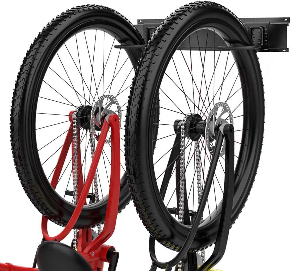 2-Bike Wall Rack Bicycle Stand Home Garage Storage Adjustable Holder Organizer