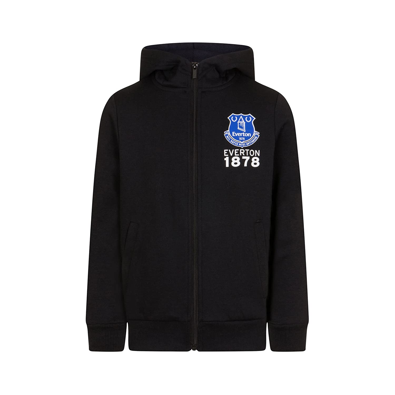 Everton FC Official Football Gift Boys Fleece Zip Hoody