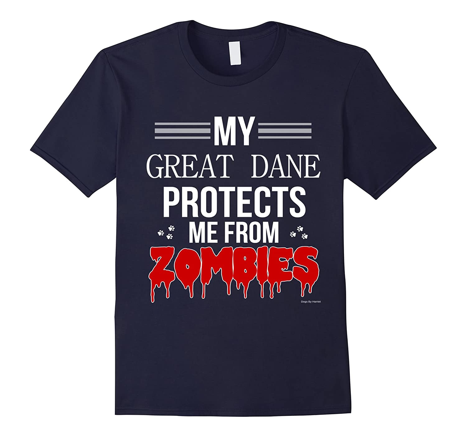 Funny Zombie Great Dane - Dog Shirt-Art