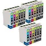 GREENBOX Sostituzione per Epson 16 16XL Colori Cartucce d'inchiostro Compatibile con Epson WorkForce WF-2010 WF-2500 WF-2510 WF-2520 WF-2530 WF-2540 WF-2630 WF-2650 WF-2660 WF-2700 WF-2750 WF-2760 ( 9 x Nero, 3 x Ciano, 3 x Magenta, 3 x Giallo )