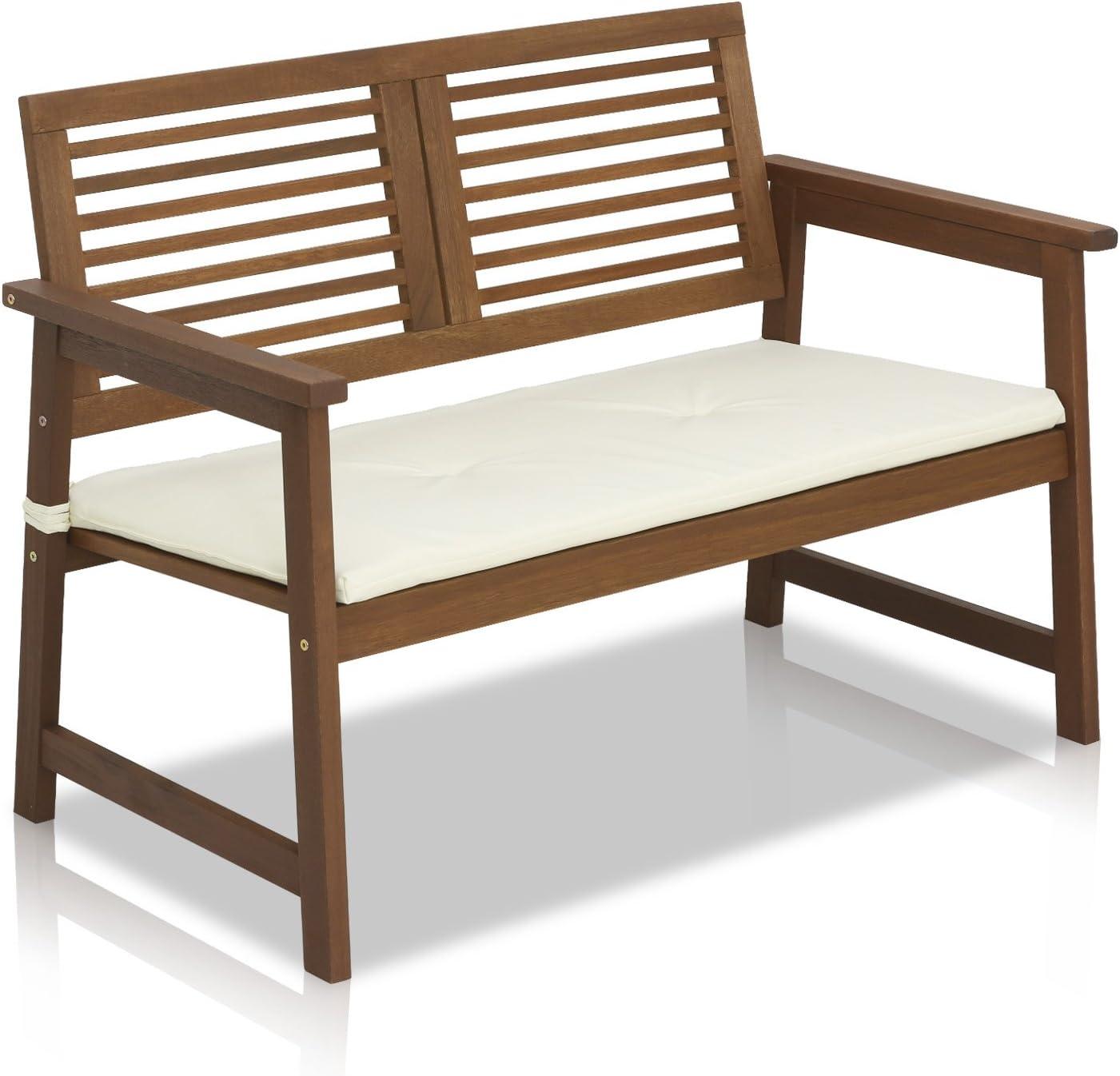 Amazon Com Furinno Fg161167 Tioman Hardwood Outdoor Bench In Teak Oil Natural Garden Outdoor