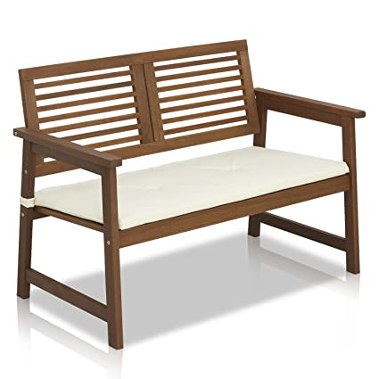 Super Furinno Fg161167 Tioman Hardwood Patio Furniture Outdoor Bench In Teak Oil Best Image Libraries Weasiibadanjobscom