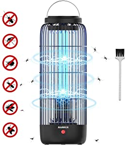 AMUFER Electric Bug Zapper, Mosquito Killer Plug in, 13W High Powered 360° Indoor Electric Mosquito, Bug, Fly Trap for Bedroom, Kitchen, Office