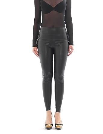 17b315969cf70 YESET Women's Long Trousers Röre Pants Leggings Shiny and Matt Like Latex  Patent Leather Look High